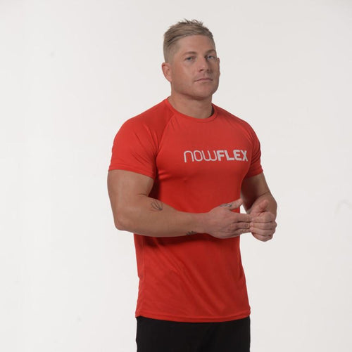 FLEX T-SHIRT - RED - Be Activewear