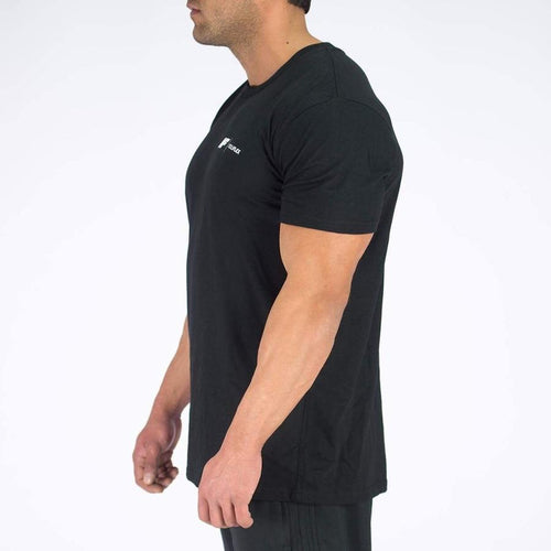 ESSENTIAL TEE - BLACK - Be Activewear