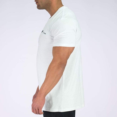 ESSENTIAL TEE - POLAR WHITE - Be Activewear