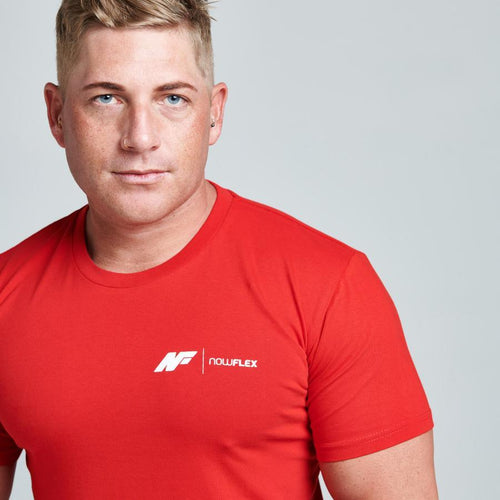 ESSENTIAL TEE - RED - Be Activewear