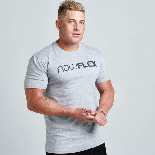 FLEX TEE - GREY MARBLE - Be Activewear