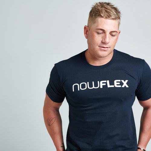 FLEX TEE - NAVY - Be Activewear