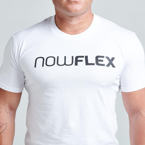 FLEX TEE - POLAR WHITE - Be Activewear