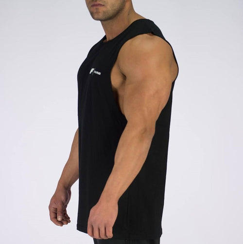 ESSENTIAL MUSCLE TANK - BLACK - Be Activewear