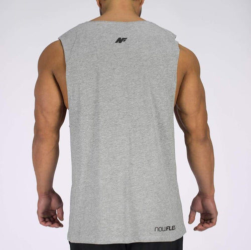 ESSENTIAL MUSCLE TANK - GREY MARBLE - Be Activewear