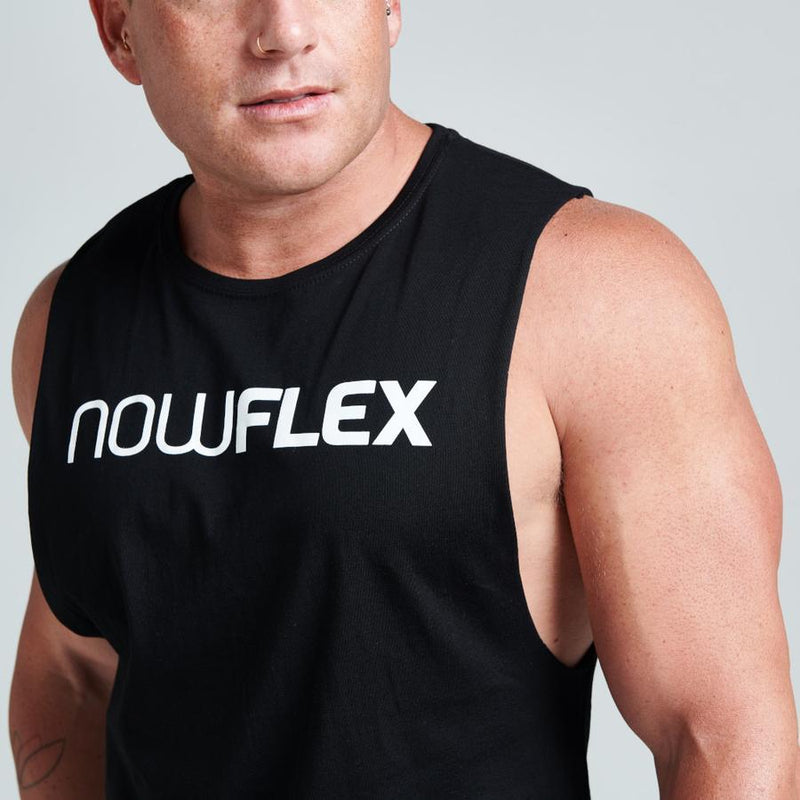 FLEX MUSCLE TANK - BLACK - Be Activewear