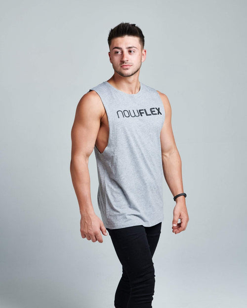 FLEX MUSCLE TANK - GREY MARBLE - Be Activewear