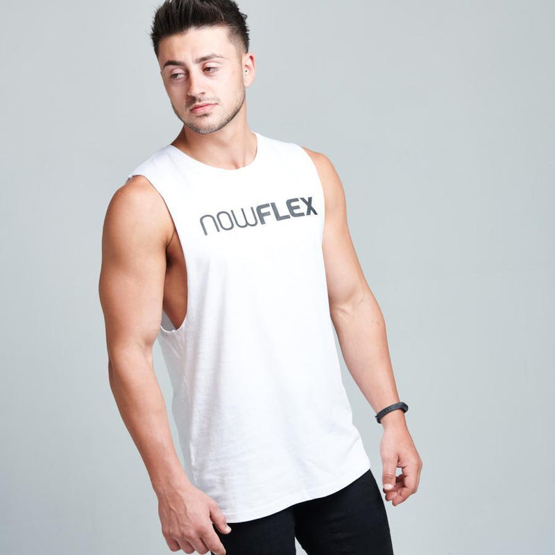 FLEX MUSCLE TANK - POLAR WHITE - Be Activewear