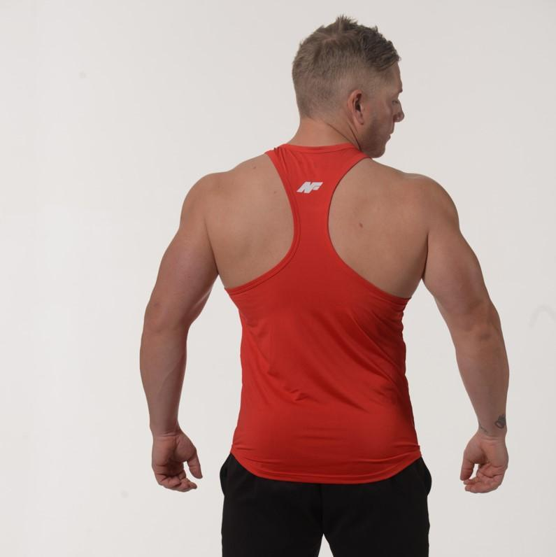 FLEX SINGLET T-BAR - RED - Be Activewear