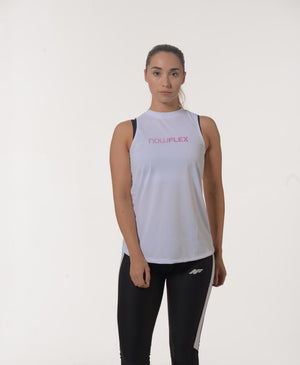 Active Flex Tank - White - Be Activewear