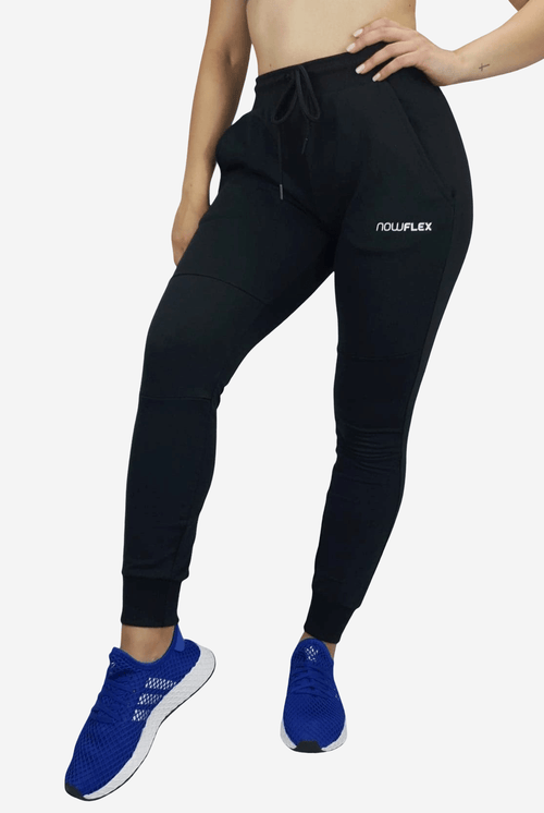 WOMENS FLEX TRACKIES - BLACK - Be Activewear