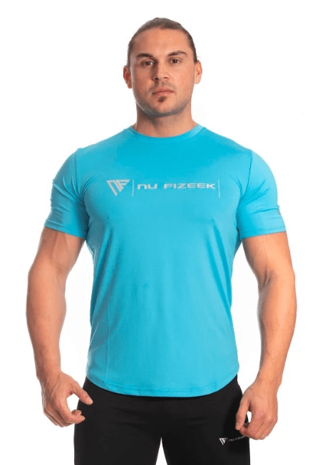 HIS SIGNATURE TEE - Blue - Be Activewear