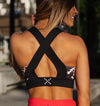 Geo Leopard Print Sports Bra - Be Activewear
