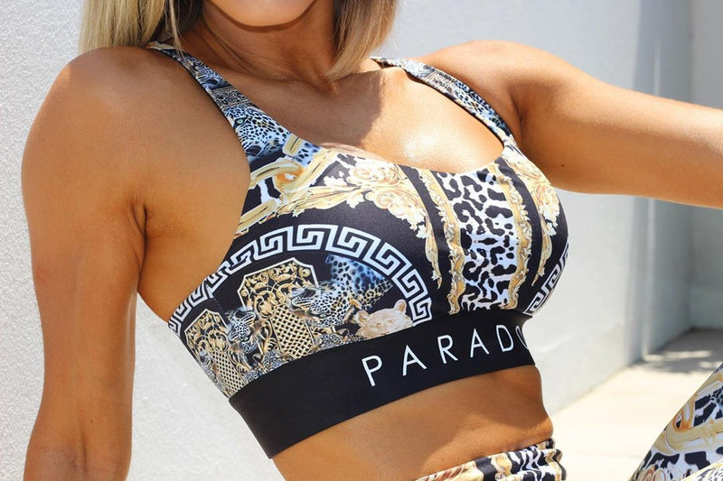 Luxe Animal Print Sports Bra - Be Activewear