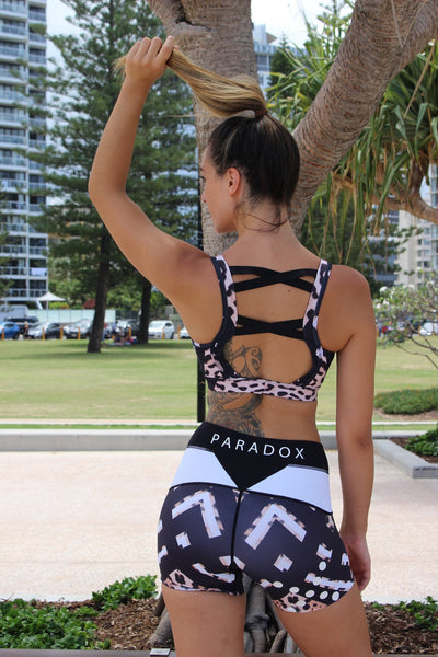 Paradox Activewear Shorts Geo Leopard Print Shorts (Limited Stock)