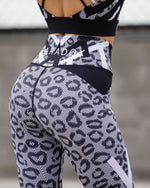 Mesh Look Leopard Print Tights - Be Activewear