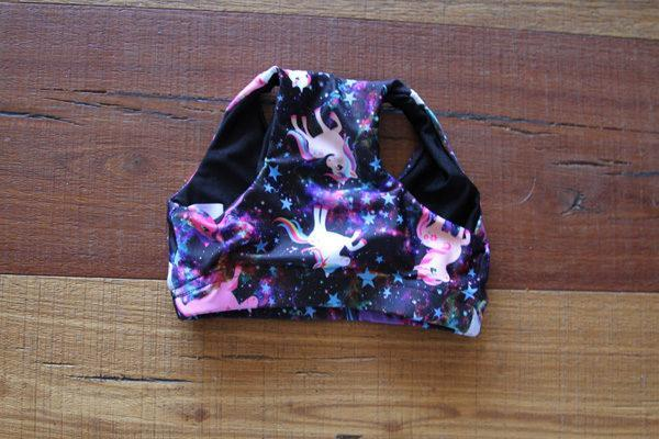 Space Pony Crop Top Sports Bra Youth Girls - Be Activewear