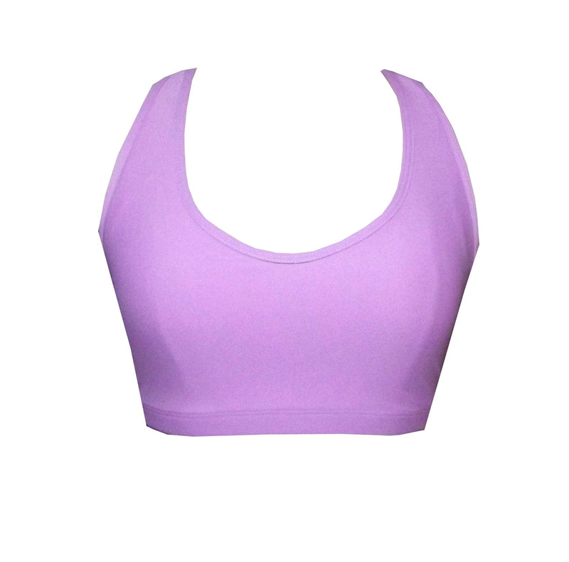 Lilac Sports Crop Top - Be Activewear