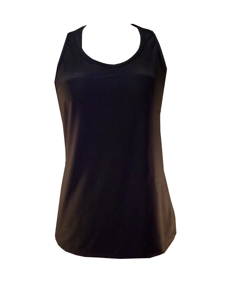 Mesh Sports Tank TK005Blk - Be Activewear