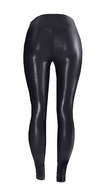 Leather look Scrunch Bum Gym Leggings- Australian Made - Be Activewear
