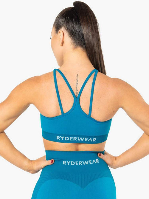 ELECTRA SEAMLESS SPORTS BRA - ELECTRIC BLUE - Be Activewear