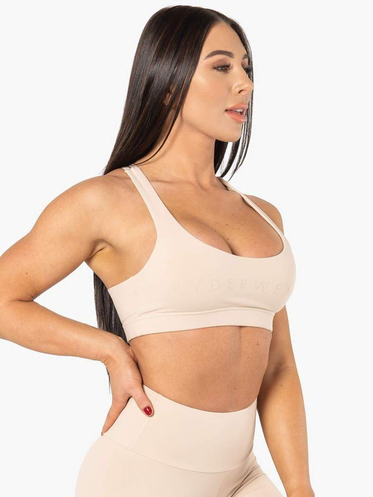 ELEVATE SPORTS BRA - NUDE - Be Activewear