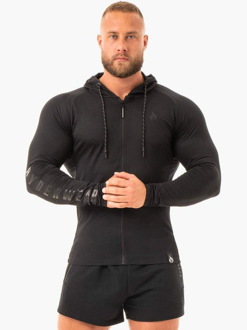 Ryderwear Hoodie COMBAT ZIP UP JACKET - BLACK
