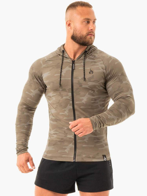 Ryderwear Hoodie COMBAT ZIP UP JACKET - KHAKI CAMO