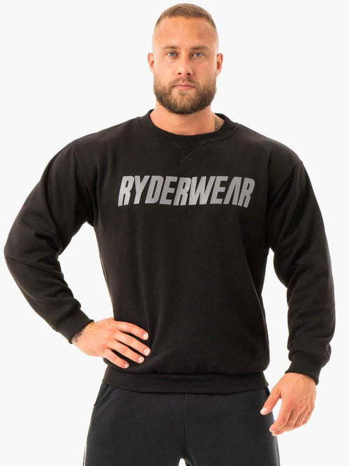 Ryderwear Hoodie EASE FLEECE PULLOVER - BLACK
