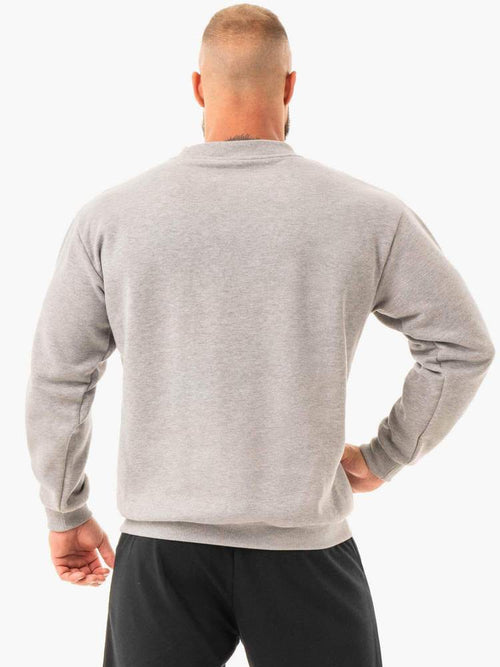 Ryderwear Hoodie EASE FLEECE PULLOVER - GREY MARL