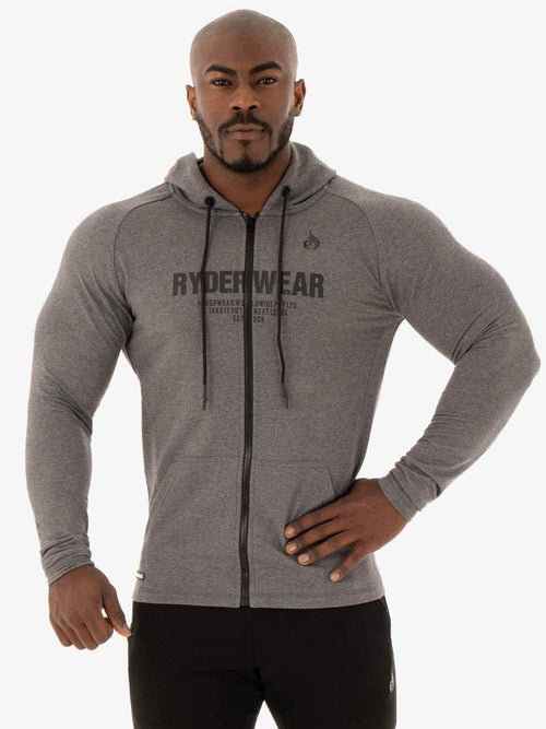 Ryderwear Hoodie FOCUS ZIP UP JACKET - BLACK MARL