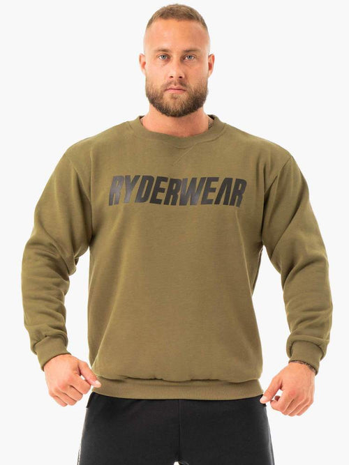 Ryderwear Jumper EASE FLEECE PULLOVER - KHAKI