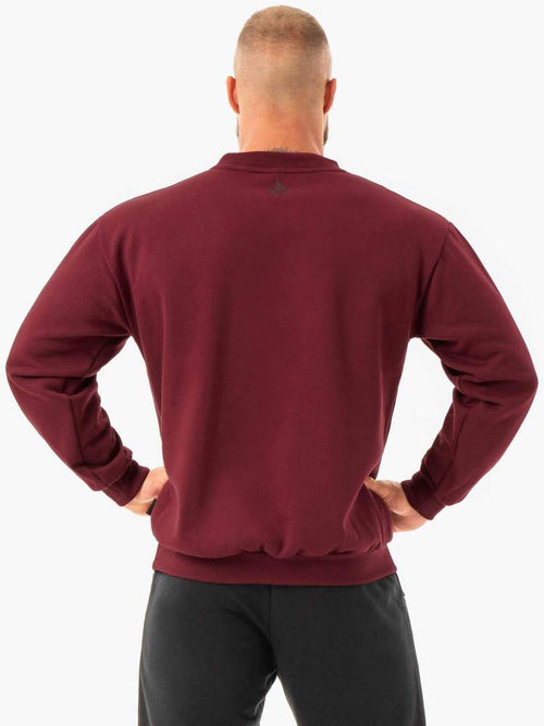 Ryderwear Jumper FORCE PULLOVER - BURGUNDY