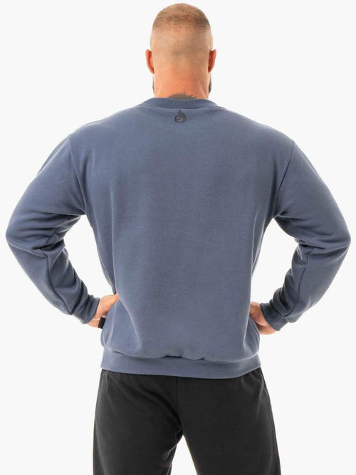 Ryderwear Jumper FORCE PULLOVER - STEEL BLUE