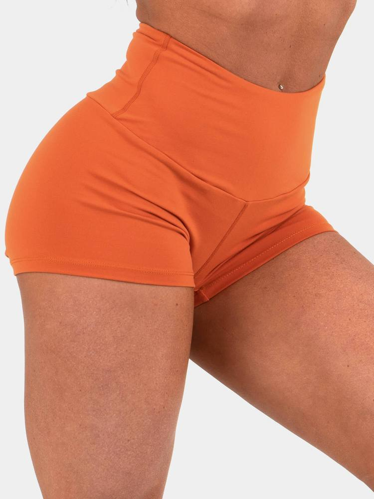 ANIMAL SCRUNCH BUM SHORTS - RUST - Be Activewear