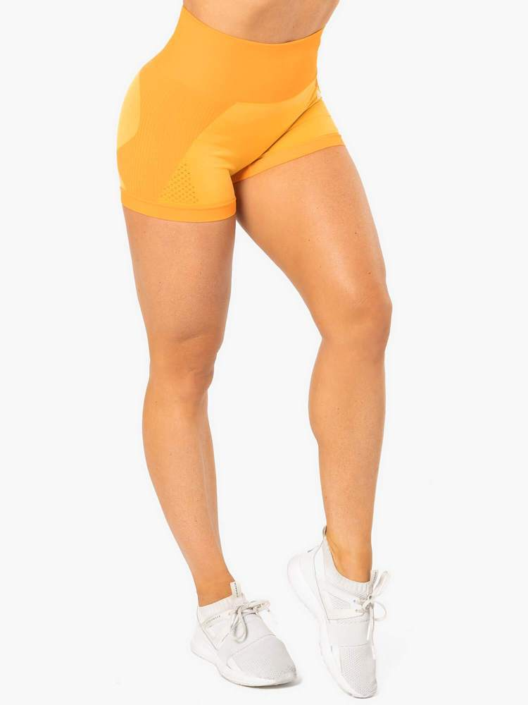 ELECTRA SEAMLESS SHORTS - ELECTRIC YELLOW - Be Activewear