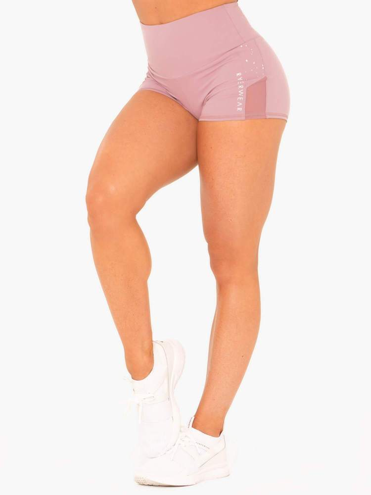LUNAR LUXE SHORTS MAUVE - Be Activewear
