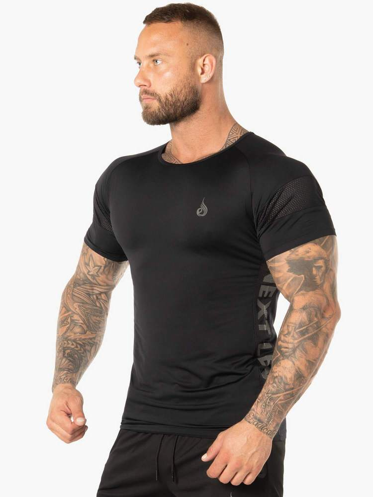 EVO T-SHIRT - BLACK - Be Activewear