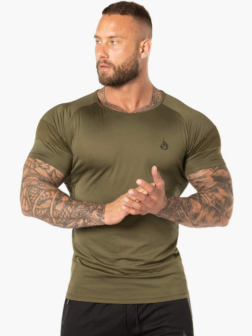 EVO T-SHIRT - KHAKI - Be Activewear