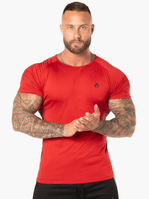 EVO T-SHIRT - RED - Be Activewear