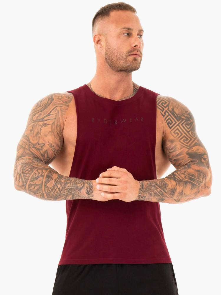 ACTIVE COTTON BALLER TANK - BURGUNDY