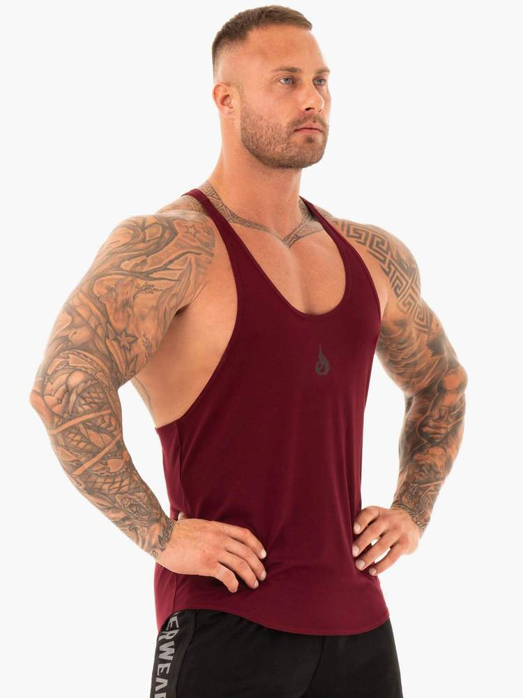 ACTIVE T-BACK - BURGUNDY