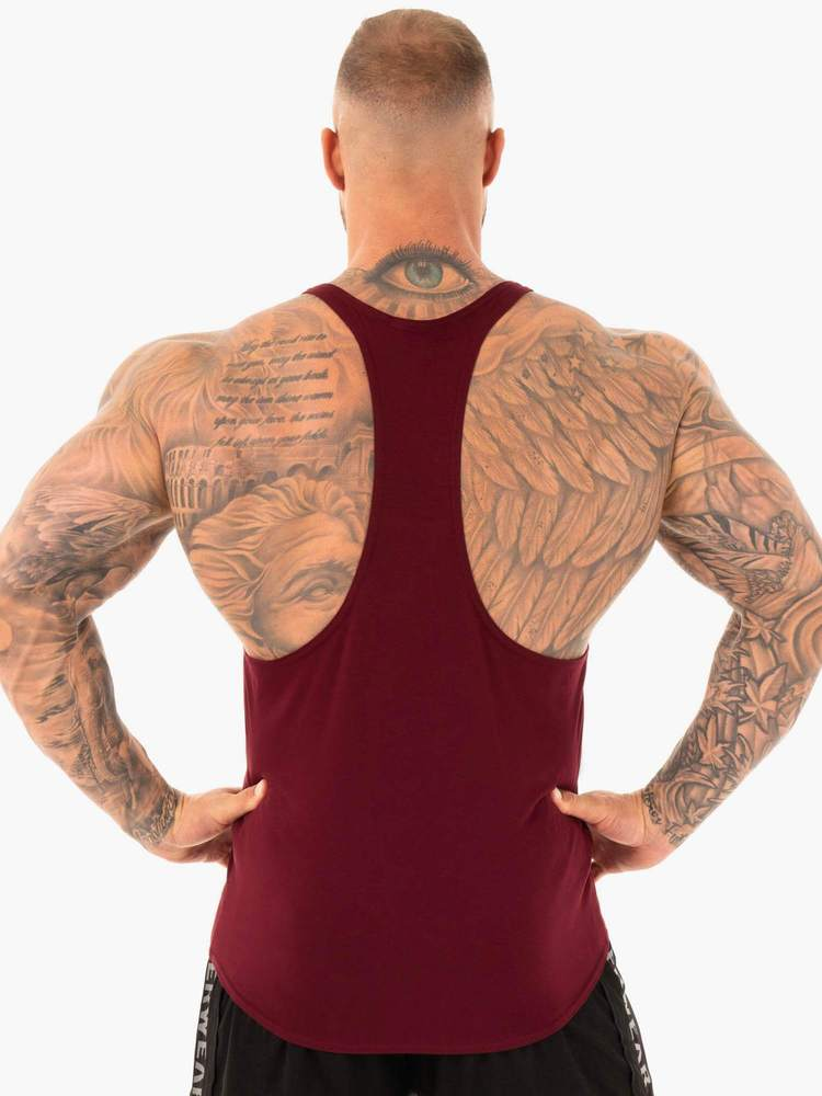 ACTIVE COTTON T-BACK - BURGUNDY