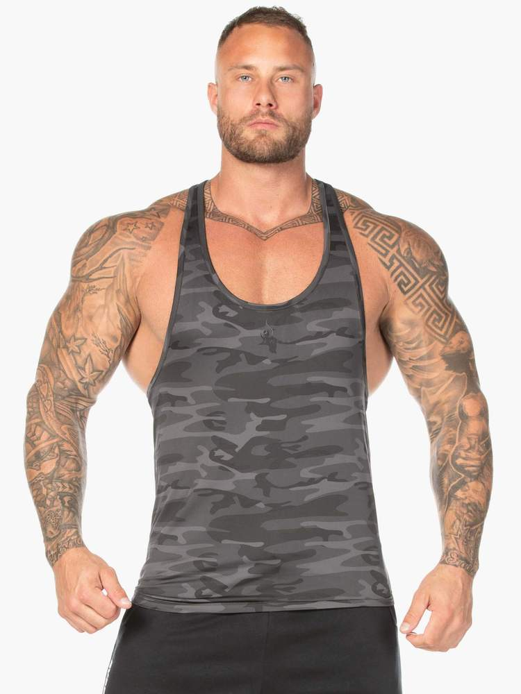 Ryderwear Tank CAMO STRINGER T-BACK - BLACK CAMO