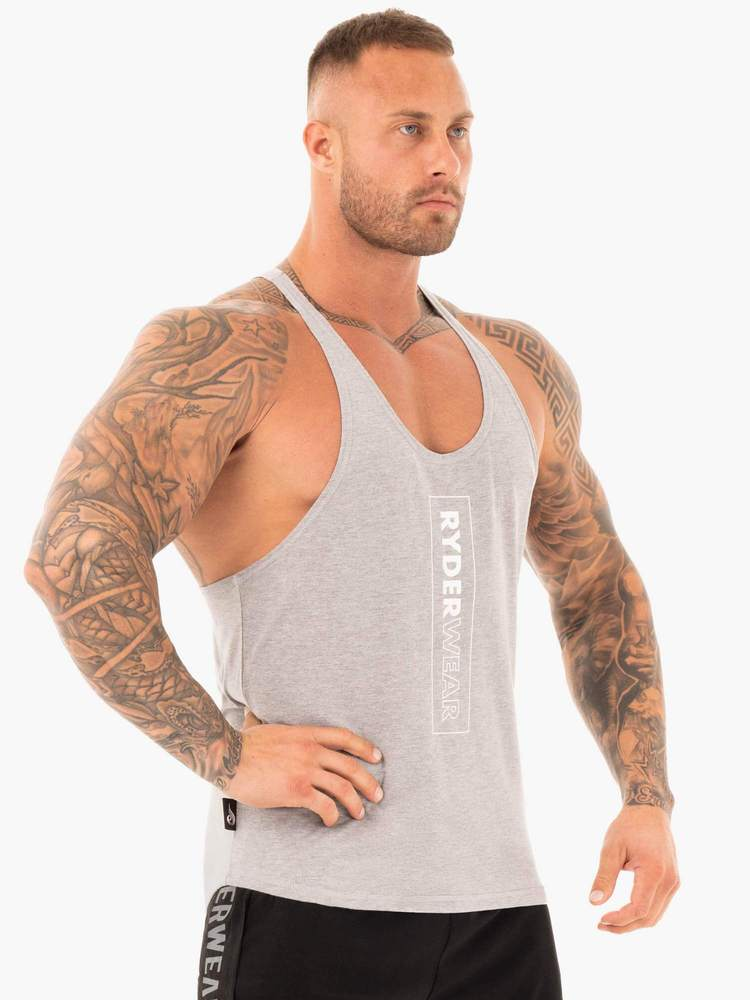FLEX T-BACK STRINGER - GREY MARL