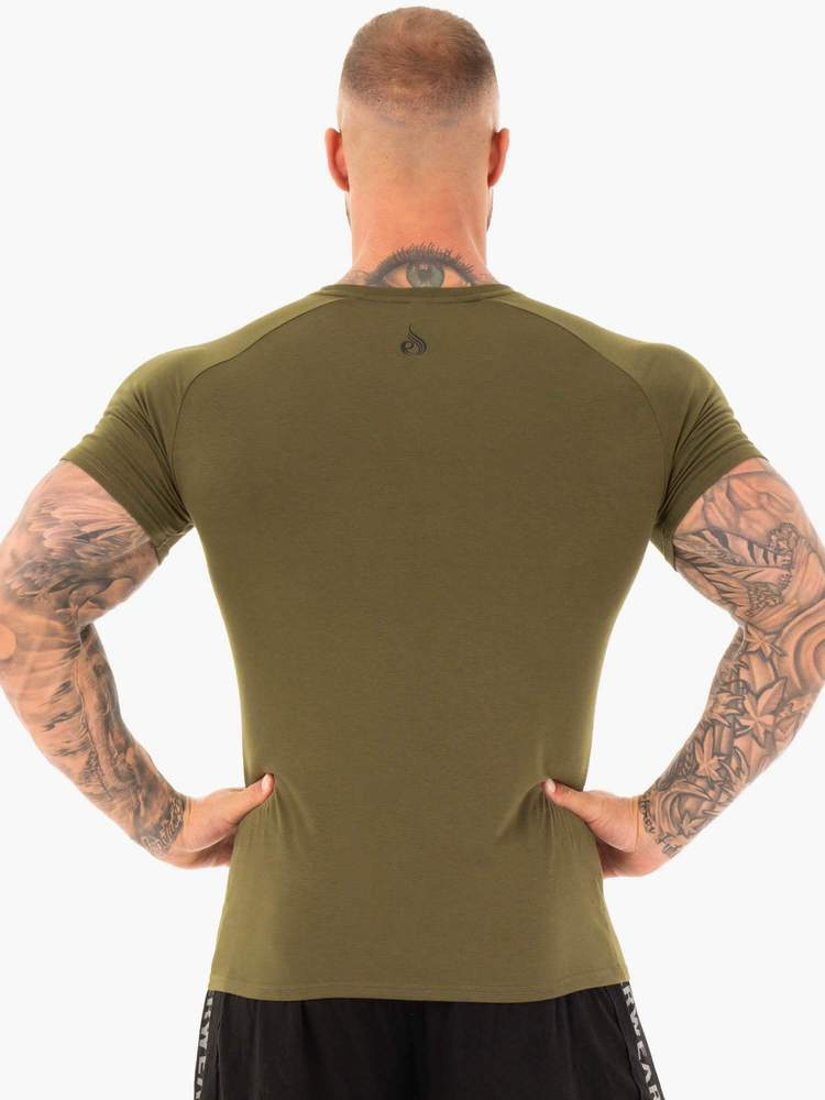 ACTIVE COTTON T-SHIRT -KHAKI