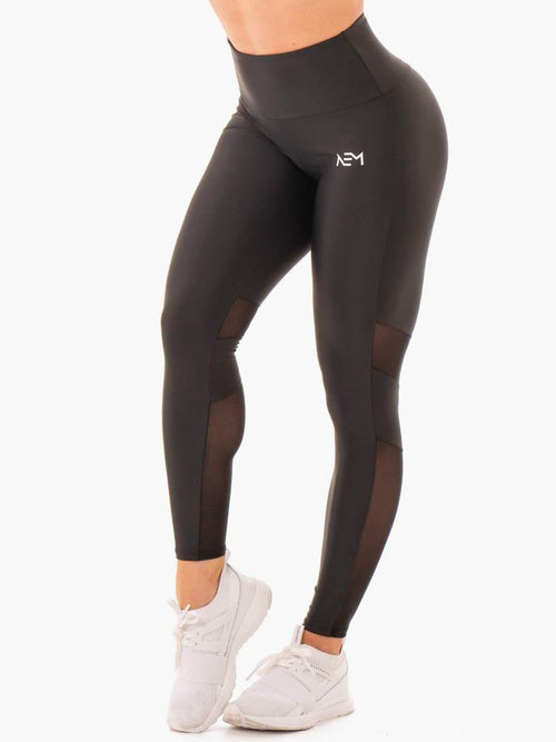 NEM X RW SCRUNCH BUM LEGGINGS BLACK - Be Activewear