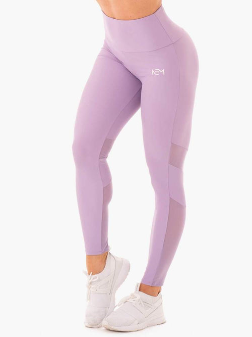 NEM X RW SCRUNCH BUM LEGGINGS PURPLE - Be Activewear