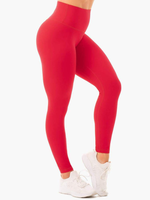 Ryderwear Tights NKD HIGH WAISTED LEGGINGS - RED