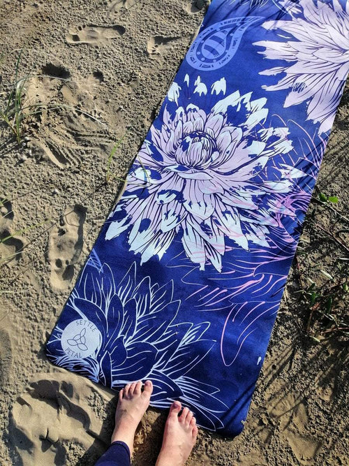 Midnight Flora Yoga Mat